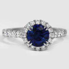 Beautiful blue sapphire diamond ring.