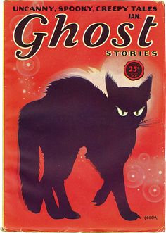 You've got to be intrigued by the description - uncanny, spooky, creepy tales! #vintage #Halloween #cat
