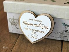 Save the date Magnets, wood love heart magnet save the date by Oxee, rustic wedding, wedding favor