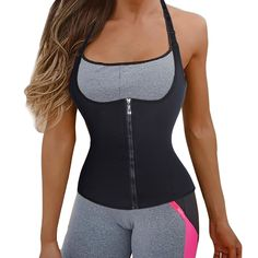 c71d3d21cc Sliming Zipper Waist Trainer Vest Long Torso Body Slim Shaper Workout  Corset Rrp  ebay  Fashion