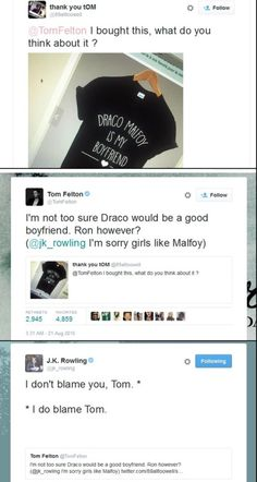 JK Rowling blames Tom :D