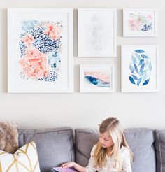 Colorful wall art from Minted. Design your living room with curated collections by color or by room.
