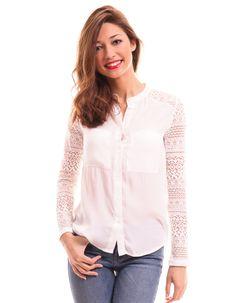 BLUSA CON ENCAJE EN LAS MANGAS DE VILA CLOTHES Vila Clothes 34,95 €