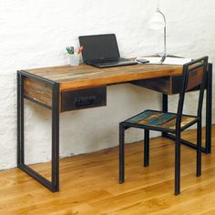 Baudouin Shabby Chic Vintage Reclaimed Lumber Computer by Bonsoni, £499.50