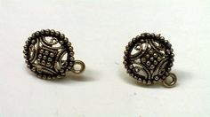 SH40 Antique gold stud base with loop Stud size 15mm, With Rubber stopper Rs- 24/pair