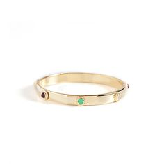 Faye Gold Bangle- $68  Love this! Found it on Remarkable Jewelry.
