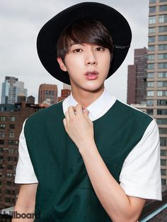 BTS photographed on July 15, 2015 at Billboard's Chelsea, New York studio | JIN