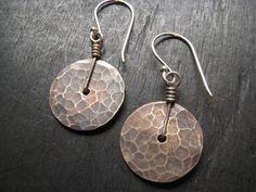 Tiny Brass Disk Earrings