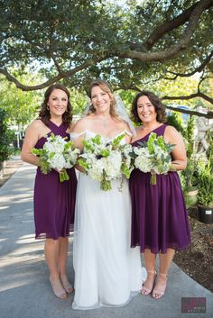 The Bride and her Bridemaids. Plum Wedding Colors, Wedding Color Schemes, Bridesmaids, Bridesmaid Dresses, Wedding Dresses, Oklahoma Wedding, Exotic Plants, Perfect Place, Wedding Decorations