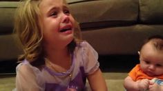 This Little Girl Completely Loses It When She Finds Out Her Baby Brother Can't Stay Tiny Forever