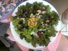 Sweet Cherry Juicy Grape Cashew Coconut Lettuce Salad soooooooooooo GOOD