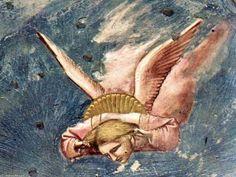 'szenen von dem leben christi: 20. gejammer (detail) (19)', freskos von Giotto Di Bondone (1266-1337, Italy)