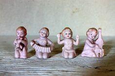 SALE miniature band figurines // pink porcelain by umbrellafant