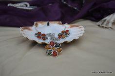 Flower necklace & earrings set