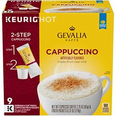 Coffee K Cups, Cappuccino Machine, Espresso Drinks, Coffee Pods, Espresso Coffee, Coffee Drinks, Coffee Beans