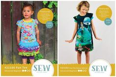PDF Printable Sewing patterns for women and girls by SewbyPatternPieces Girls Long Sleeve Tops, 100 Fun, Tee Dress, Girls Fun, Cool Tees, Workout Pants, Cool Girl, Sewing Patterns, Trending Outfits