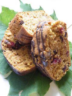 walnut, cranberry and chocolate chip pumpkin bread
