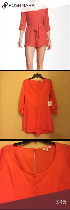 NWT Jack by BB Dakota Orange Romper NWT Jack by BB Dakota Orange Romper. Color: Deep Sea Coral. The only defect is that the rompers do not come with the belt shown in picture. Feel free to ask any questions or make a reasonable offer. Jack by BB Dakota Pants Jumpsuits & Rompers