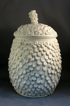 Texture! Angel Wings Decorative Jar Ready to Ship Today by BlueSkyPotteryCO, $150.00