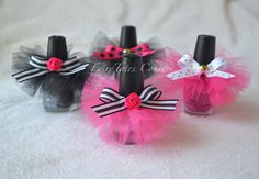 Nail Polish Tutu Favors - Paris Party Favors - Kate Spade Inspired Favors - Found on Etsy at FairyTotes Couture