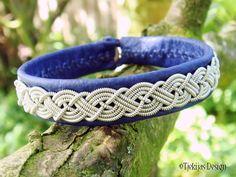 Tribal Sami Bracelet MIDGARD Swedish Blue Lapland Reindeer Leather Bracelet with Braided Pewter and Carved Antler Button - Custom  Handmade