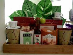 Coffee and tea gift basket Tea Gift Baskets, Tazo, Tea Gifts, Mocha, Mugs, Coffee, Tableware, Kitchens, Kaffee