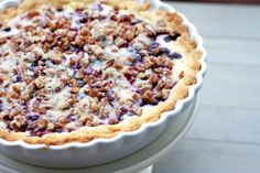 Blueberry cream pie-absolutely delicious- par bake crust 8 minutes first.