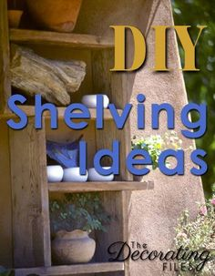 DIY Shelving Ideas: Creating extra storage or display space is easy with these creative DIY shelving ideas. Not only are they easy to make, but theyre also easy on the budget.