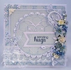 I love the little details on this (like the corner flowers) and that pretty spray! Simon says Stamp Blog.