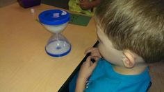 Sand timer . Use for turn taking. Social-Emotional 1a. Manages feelings, 1b. Follows limits & expectations, 3 a. Balances needs & rights of self & others