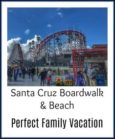 If you're headed to the California coast, the Santa Cruz Boardwalk and beach make for a perfect family vacation day. Best Places To Vacation, Vacation Days, Florida Vacation, Santa Cruz Boardwalk, Beach Boardwalk, Affordable Vacations, Free Vacations, Big Ride, Santa Cruz Beach
