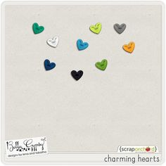 Quality DigiScrap Freebies: Charming Hearts freebie from Bella Gypsy Designs