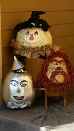 Wizard of Oz Halloween Pumpkins Wizard of Oz Halloween Pumpkins The post Wizard of Oz Halloween Pumpkins appeared first on Halloween Pumpkins. Holidays Halloween, Halloween Crafts, Holiday Crafts, Holiday Fun, Happy Halloween, Halloween Decorations, Halloween Halloween, Christmas Holidays, No Carve Pumpkin Decorating