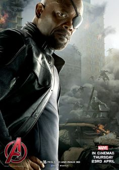Nick Fury character poster. Avengers: Age of Ultron.