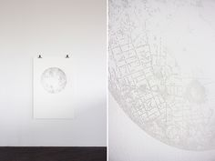 Miso : 'New York Moon (for Vali)' – pinpricks on paper, 1.1 x 1.53 m / 2012    - {private collection, melbourne}