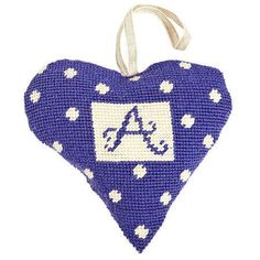 Fill your home with a wonderful Lavender scent and a pop of purple colour with this Purple Alphabet Lavender Heart Tapestry Kit.