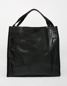 Image 1 ofRiver Island Leather Lace Up Shopper