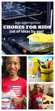 chores for kids all ages