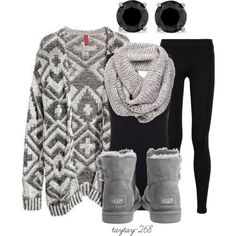 """black and grey"" by taytay-268 on Polyvore"