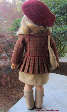 Tenue d'automne pour une poupée American par AnnVanDorenDesigns