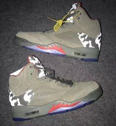 4277d60f3bf air jordan 4 · Flying man Jordan 5 Shoes Brown Camo camouflage - Dicount  Nike Store