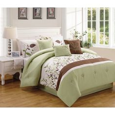 Sage and Brown Vines 7 Piece Comforter Set by Better Homes and Gardens - 72763