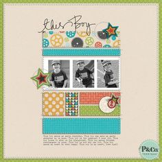 1 page, 3 photos These Little Wonders: TGIF: Scrappy Shares Scrapbook Designs, Scrapbook Sketches, Scrapbook Page Layouts, Scrapbook Supplies, Scrapbooking Ideas, Project Life Scrapbook, Baby Scrapbook, Scrapbook Cards, Baby Mini Album