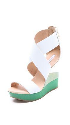 Diane von Furstenberg... Ombre Wedge Sandals