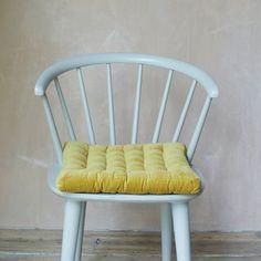 Mustard Velvet Seat Pad | Soft Furnishings | Graham & Green