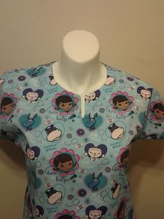 9c1e115e3d3 Fast Shipping Doc mcstuffins scrub top xs to xl with 4 different neck  design made to order 100% Cotton