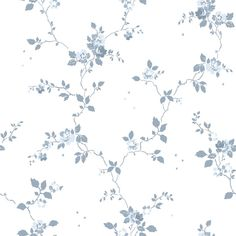 Wallpaper Samples, Home Wallpaper, Wallpaper Backgrounds, Wallpapers, Flower Sketches, Delft, Plate Sets, Beautiful Patterns, Greenery