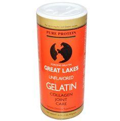 จำหน่าย ซื้อ ขาย อาหารเสริม คอลลาเจน collagen ราคาส่ง ยี่ห้อ Great Lakes Gelatin Co., Porcine Gelatin, Collagen Joint Care, Unflavored, 16 oz (454 g)