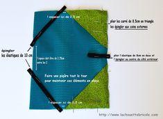Housse pour Kindle, le tuto... - La chouette bricole Kindle, Diy Couture, Ipad, Crochet, Cover, Style, Sewing, Totes, Slipcovers