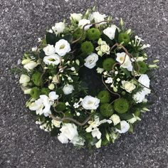 Funeral Flower Arrangements, Funeral Flowers, Funeral Tributes, Green Flowers, Woodland, Floral Wreath, Delicate, Wreaths, Nails